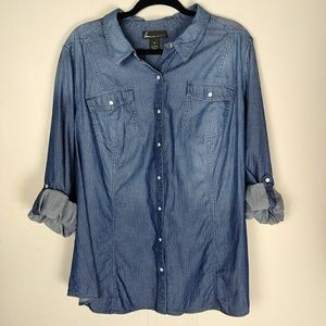 Lane Bryant Chambray Button-Down Shirt